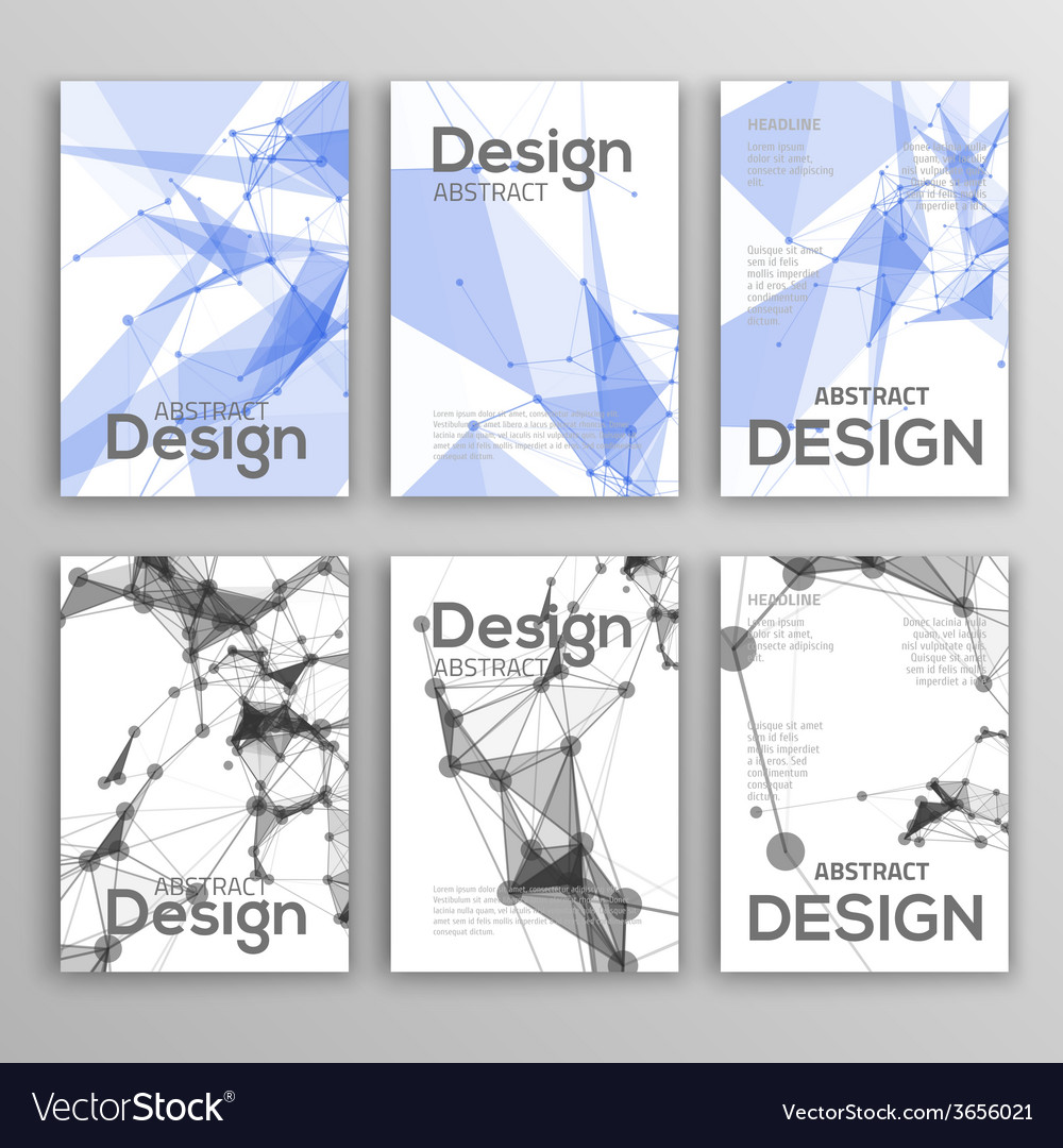 Set of Flyer Brochure Design Templates Geometric