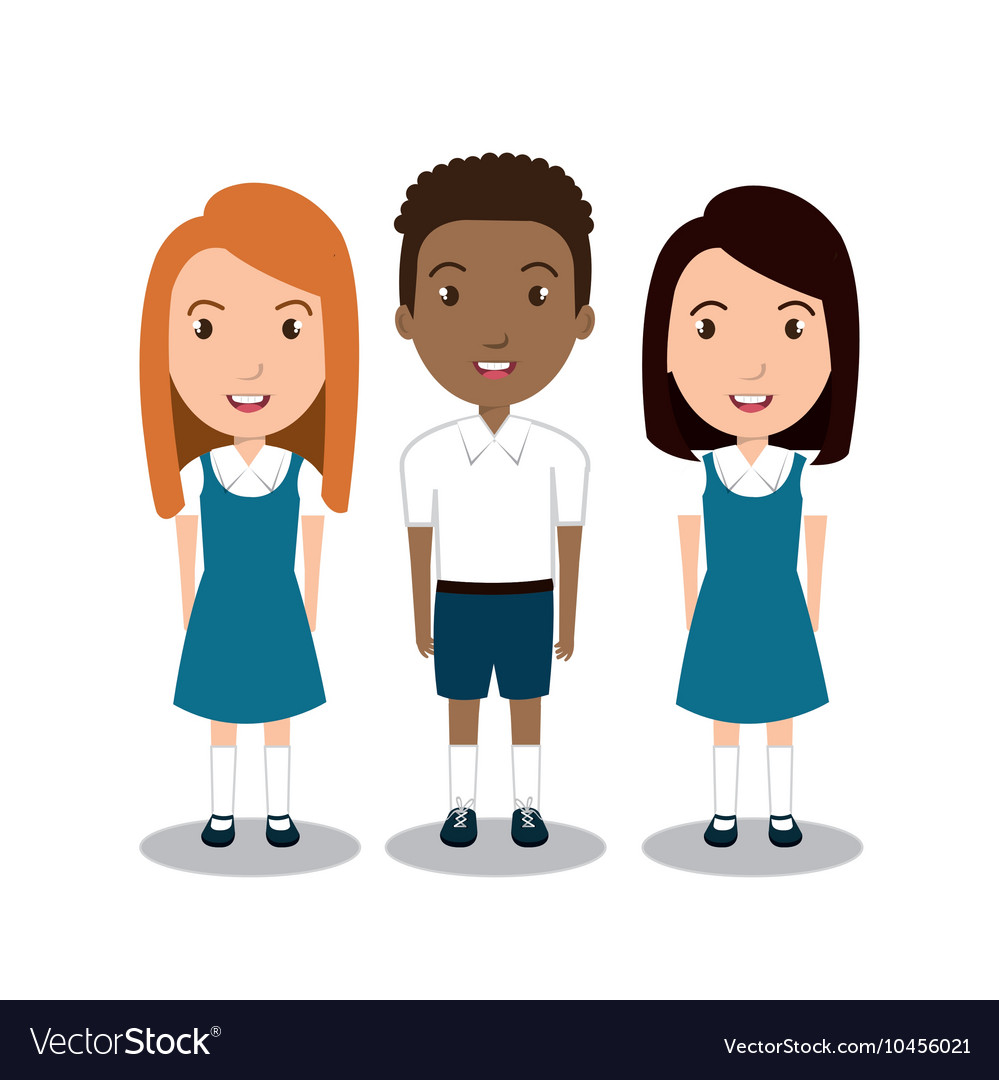 Students group uniform icon Royalty Free Vector Image