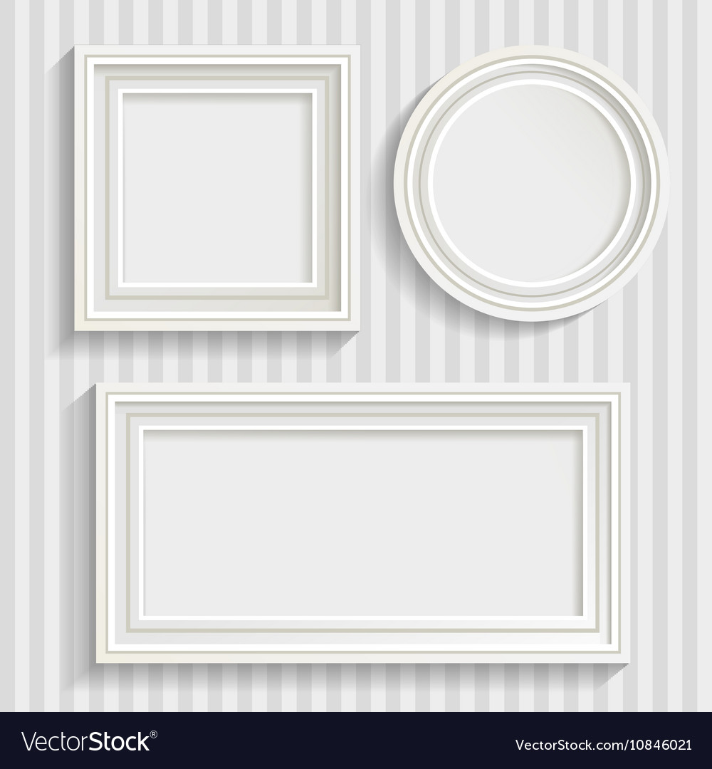 Three White Frames Set Royalty Free Vector Image