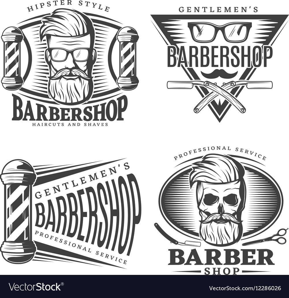 Barbershop Design Elements Set