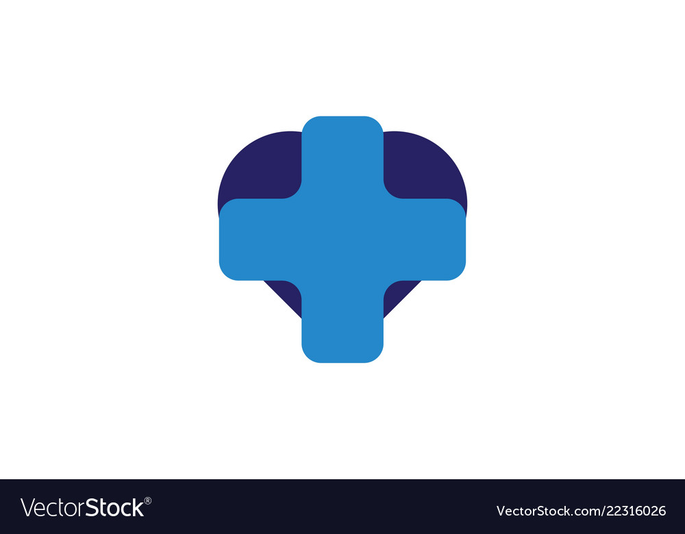 Blue cross medical healthy logo designs