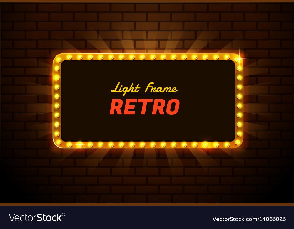Light frame retro