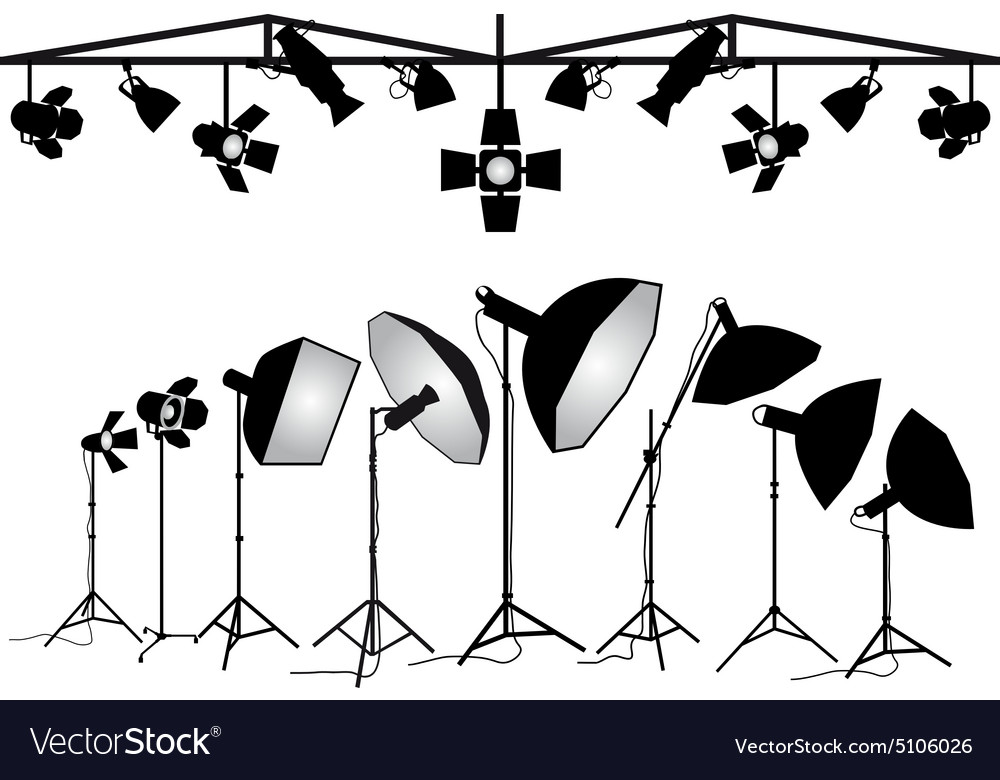 Photography lighting equipment set vector image  sc 1 st  VectorStock & Photography lighting equipment set Royalty Free Vector Image