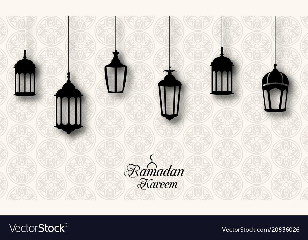 Ramadan kareem celebration background with