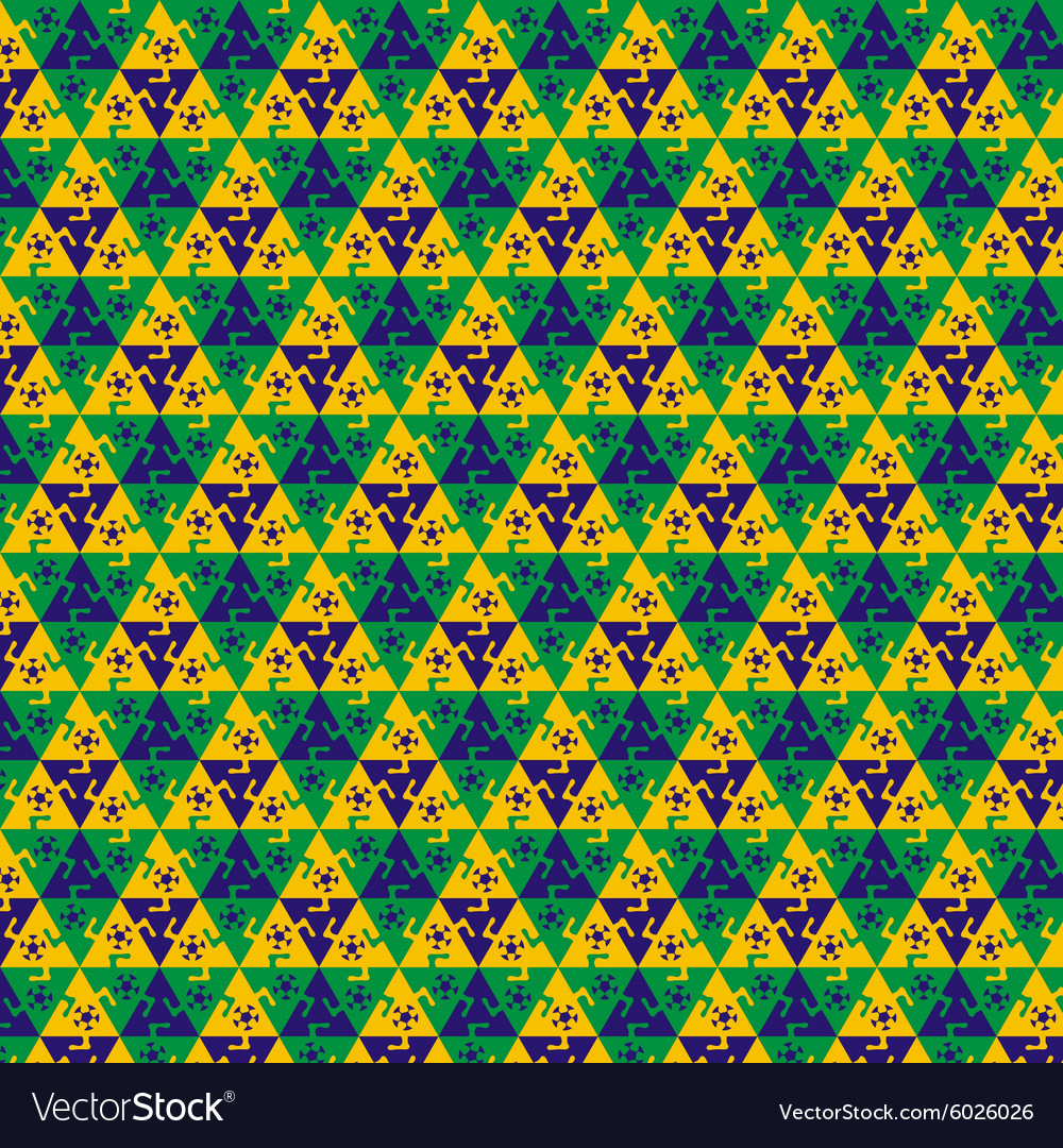 Seamless football pattern