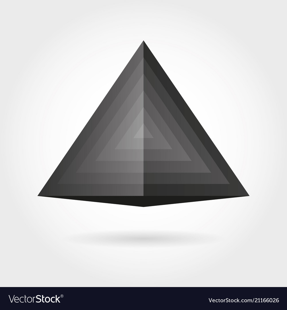 Smooth color gradient triangle icon logo