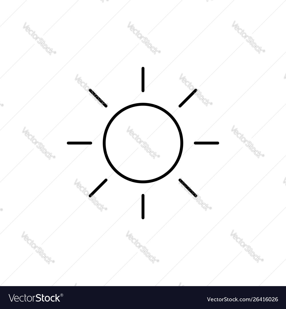 Sun space planet astronomy weather line icon