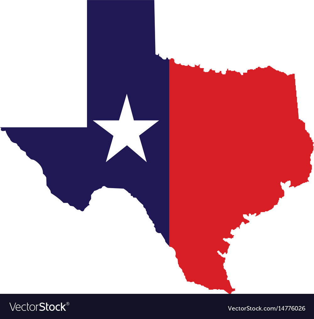 Us state of texas map logo design Royalty Free Vector Image