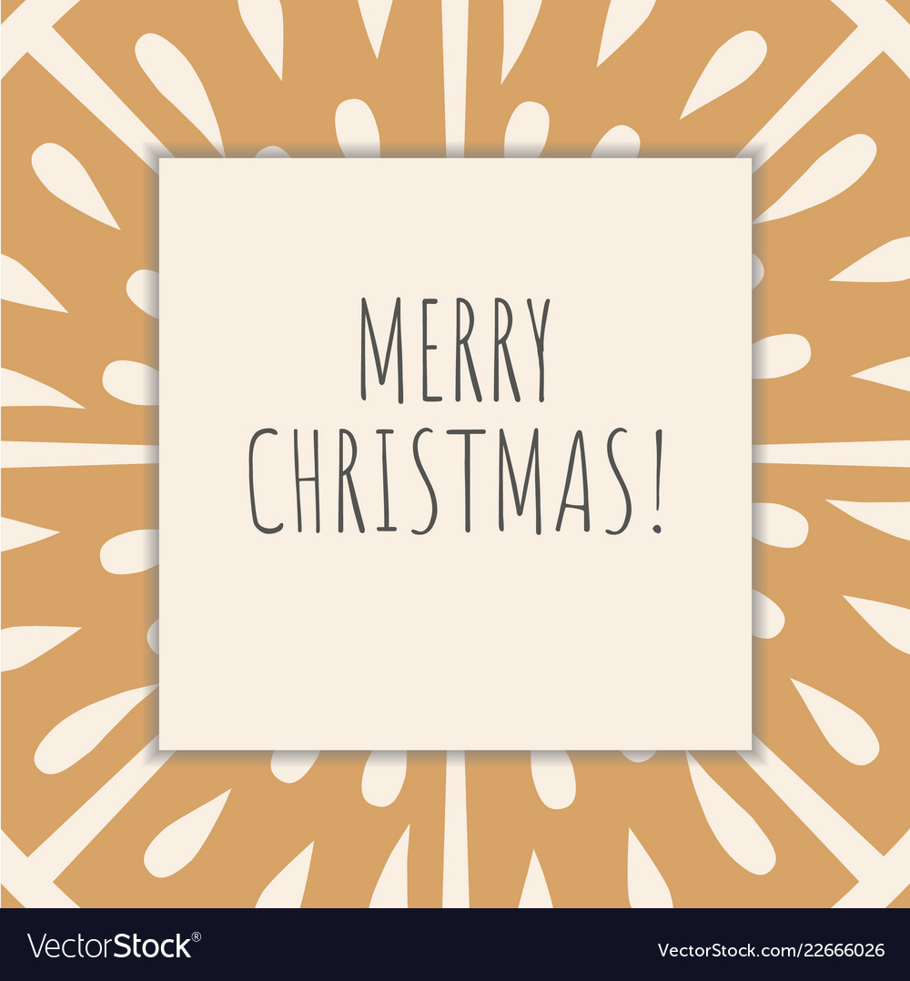 Winter and christmas greeting card retro style