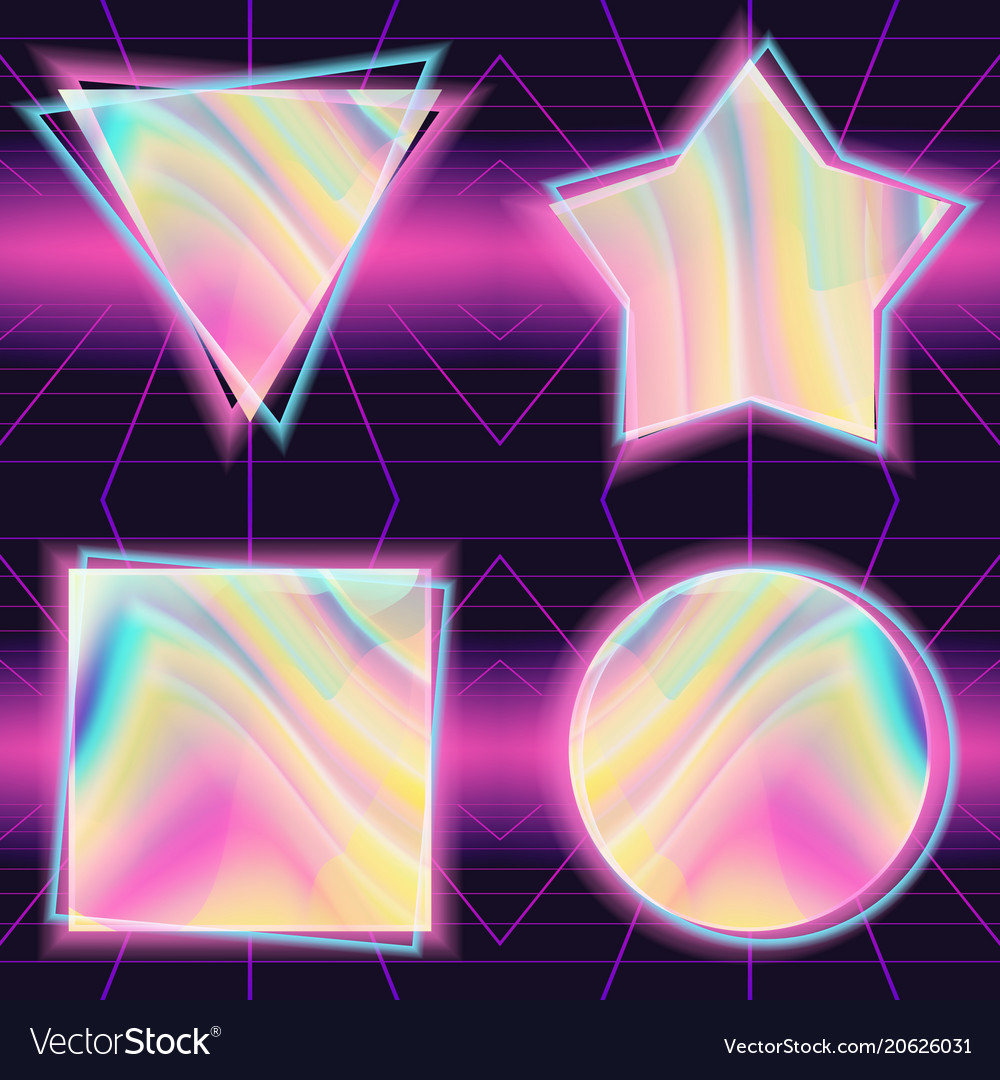 80s background holographic backdrop retro