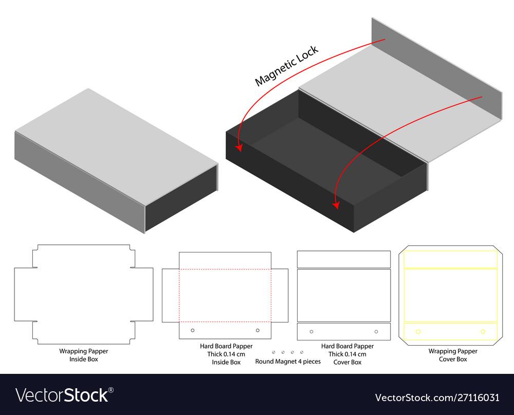 Box Packaging Die Cut Template Design 3d Mock Up Vector Image