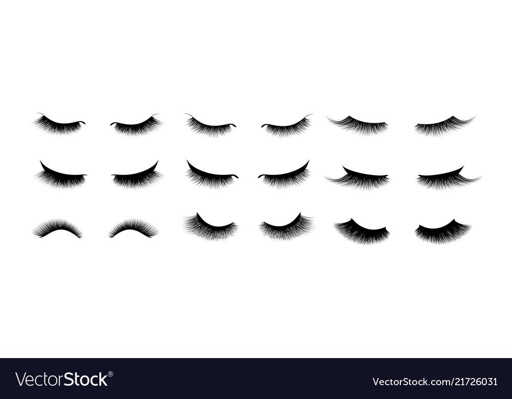 Eyelash extension set beautiful black long