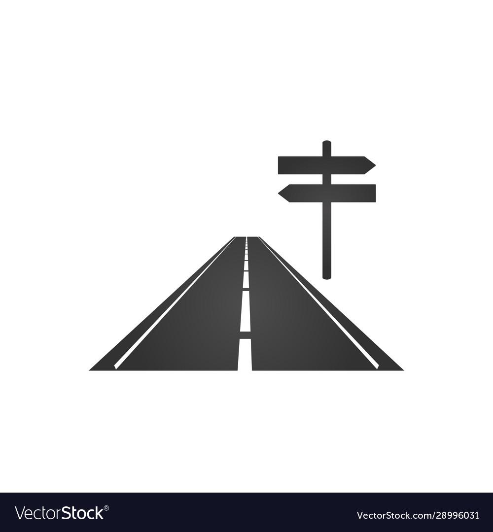 Logo a minimalistic road with a roadside