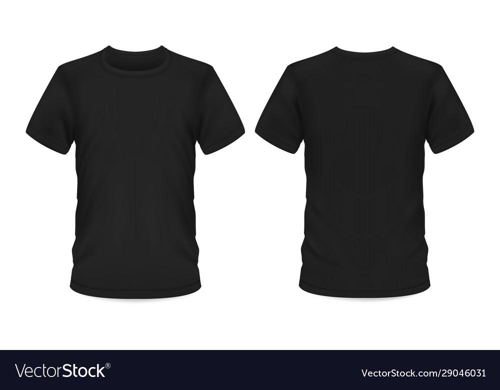 Mockup template men black t-shirt short sleeve