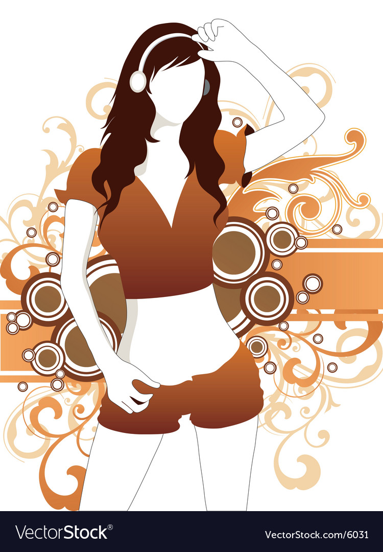 Sexy sporty girl vector image