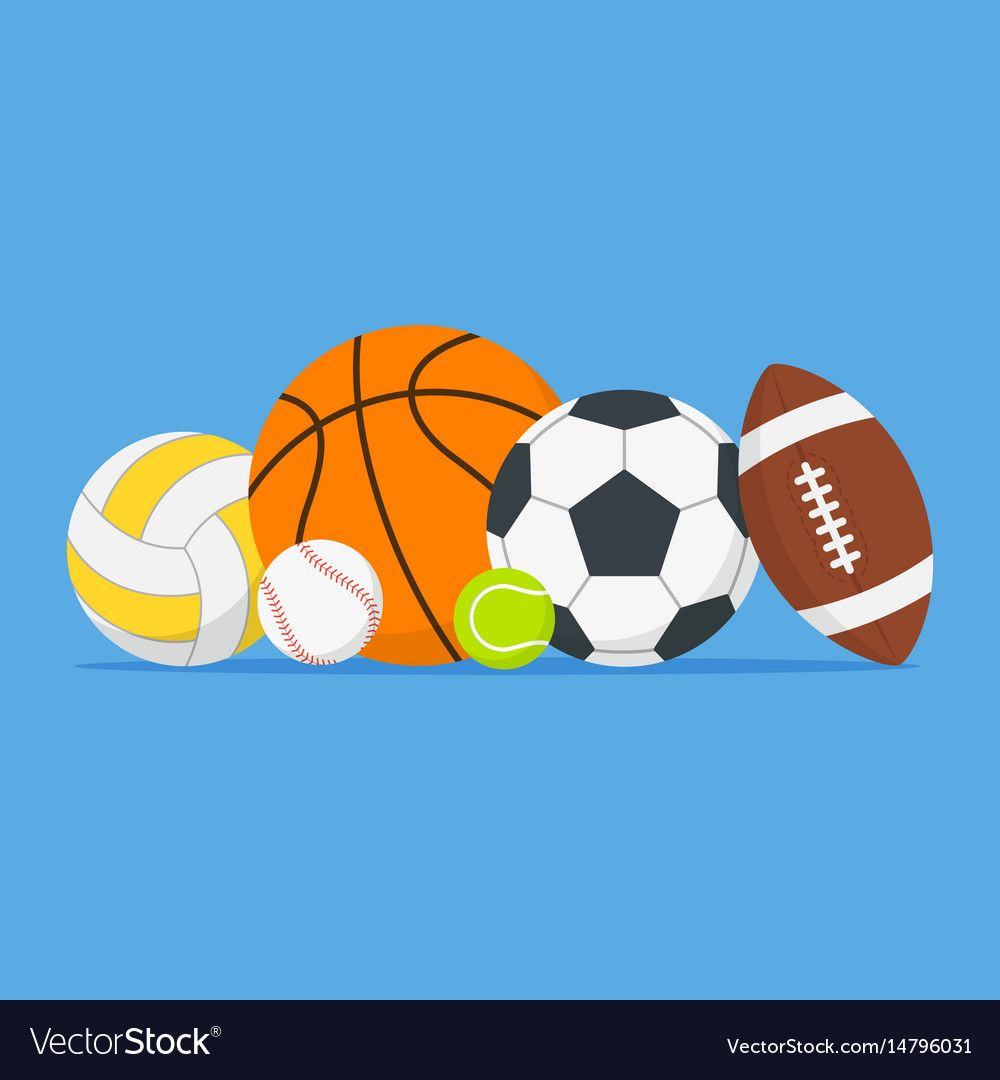 Sports Balls Set Cartoon Balls Icon Royalty Free Vector