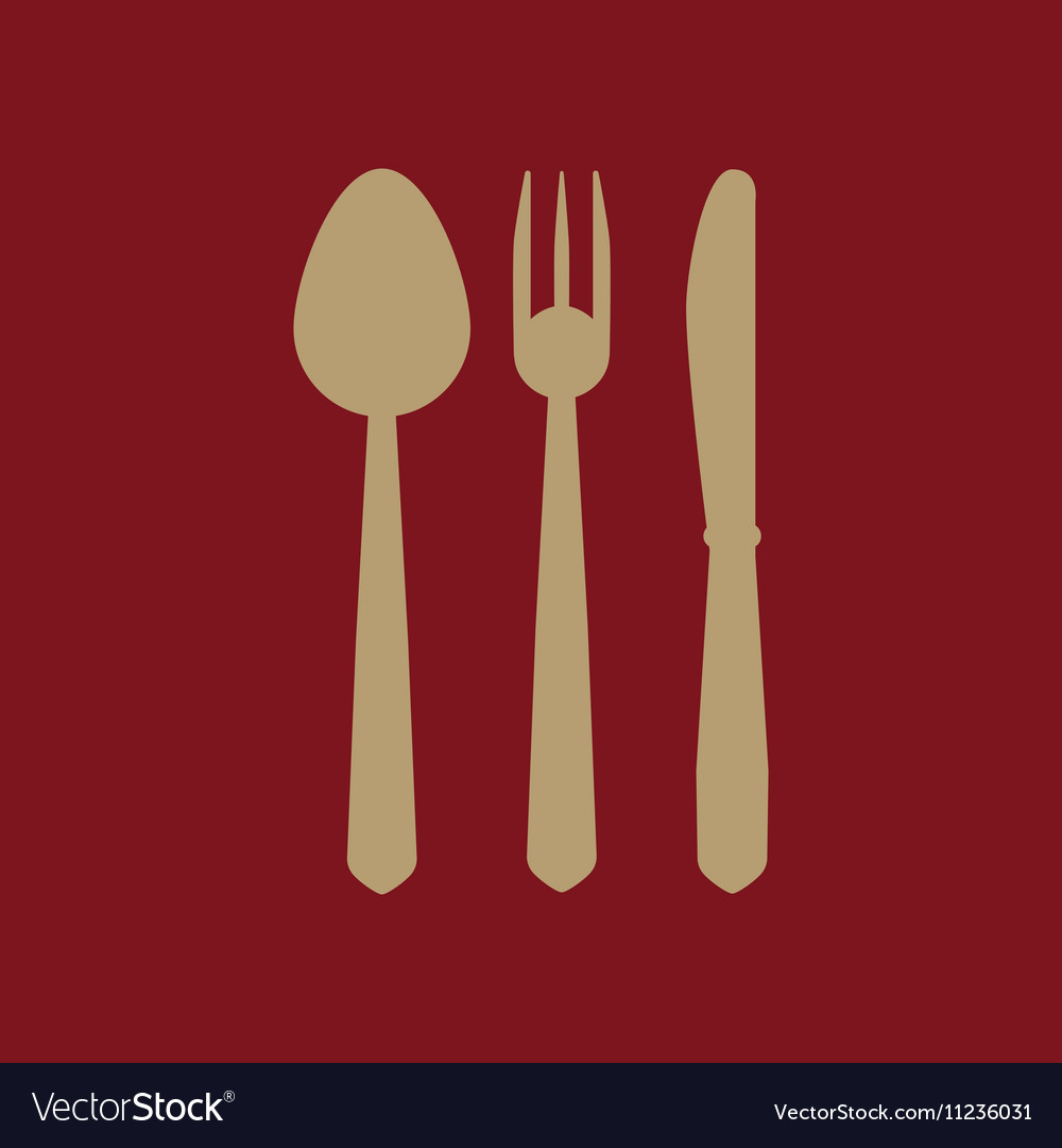 The spoon and fork and knife icon
