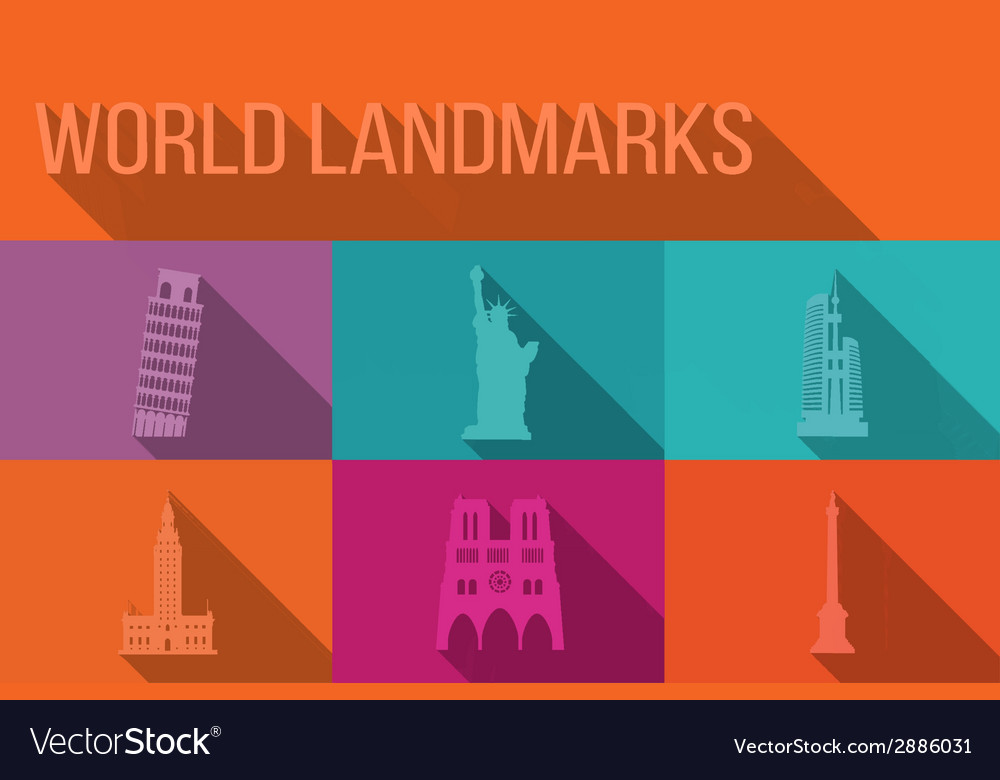 World landmarks famous buildings Europe America