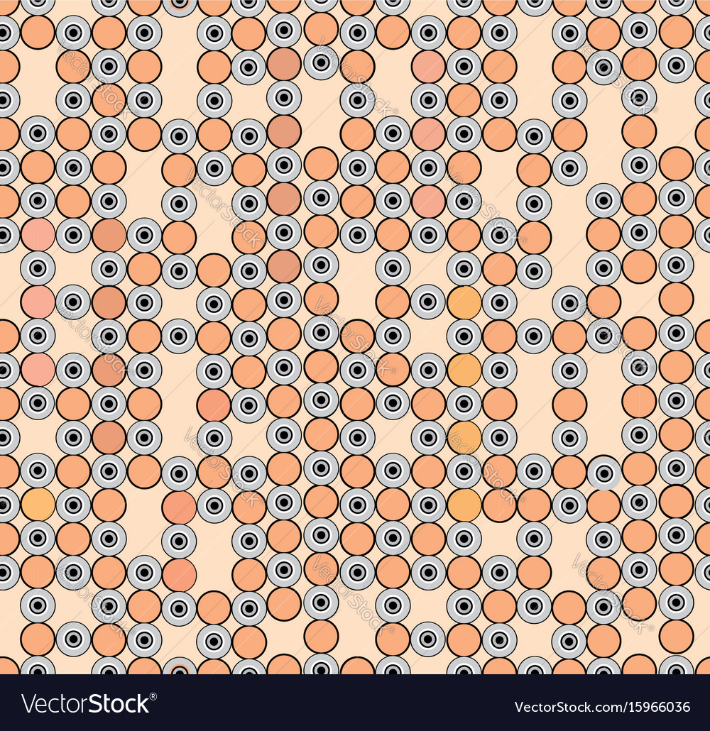 Abstract geometric pattern circle ornament polka vector image