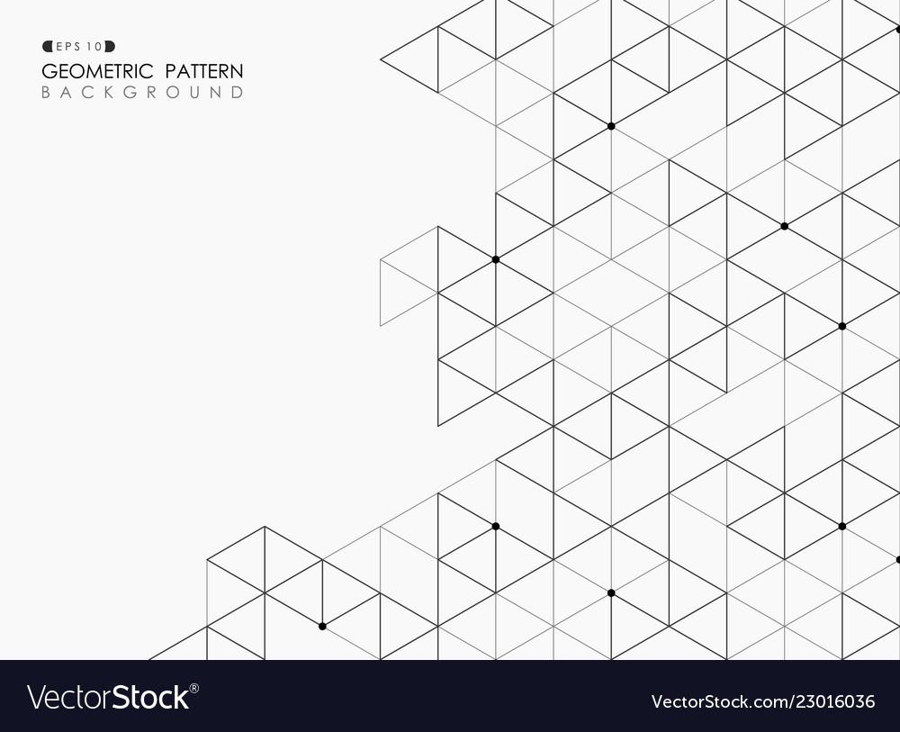 Abstract of black square pentagonal geometric
