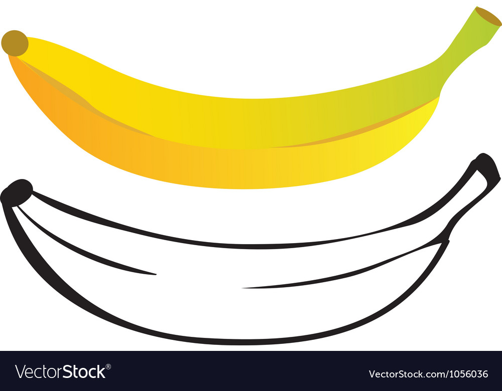 Banana color and outline
