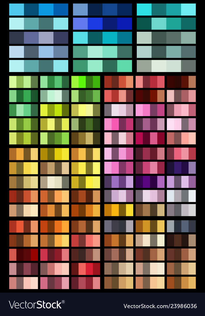 Color palette set background harmony color combos