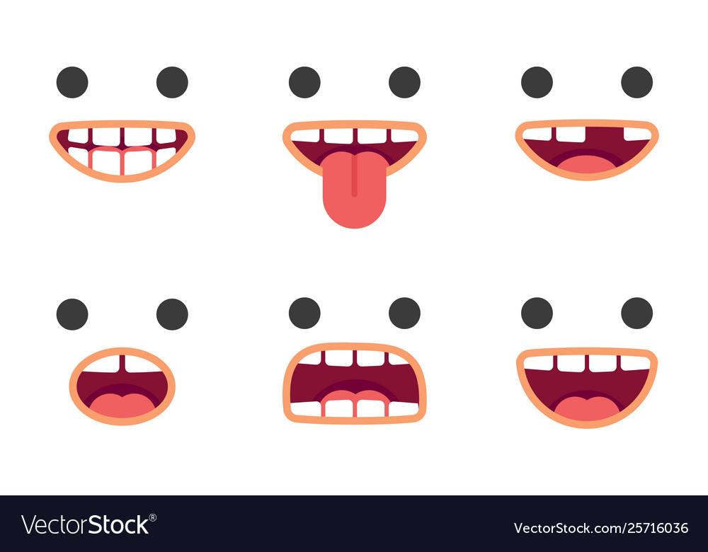 Cute emoji smile crazy faces pack