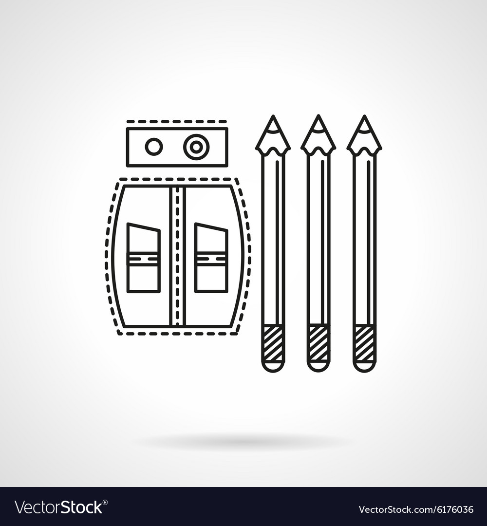 Drawing tools flat line icon