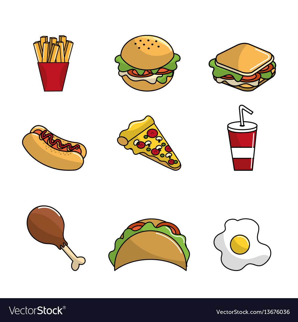 Fast food background icon