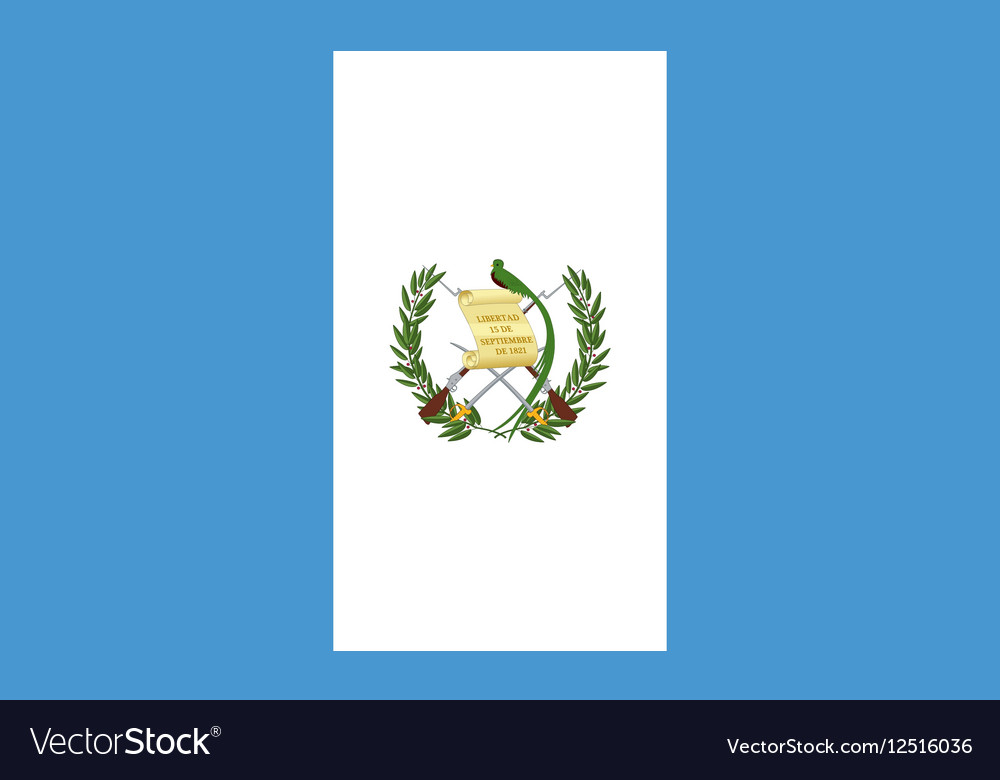 Flag of Guatemala correct size and colors vector image
