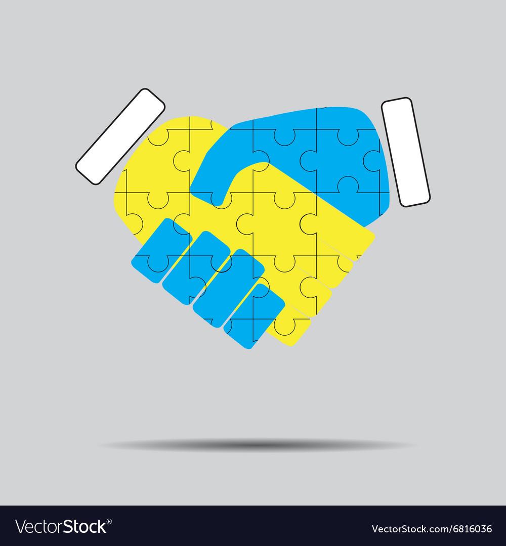 Handshake cooperation puzzle pattern