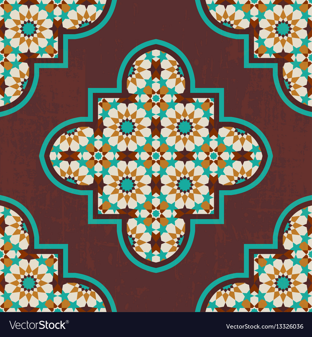Moroccan mosaic tile vector image