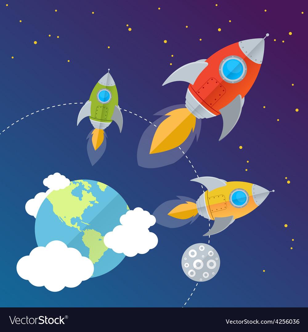 Rocket card background