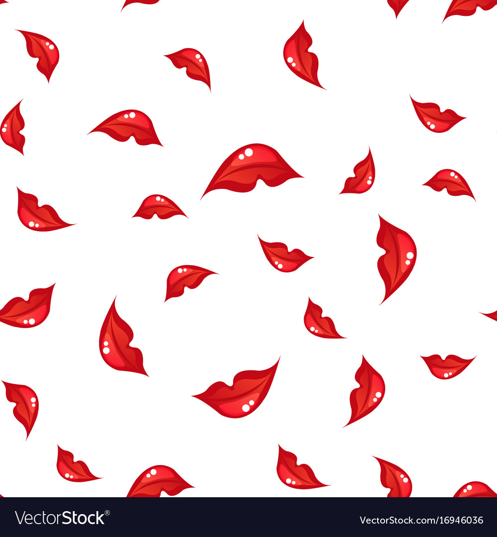 Seamless pattern with lips vector image