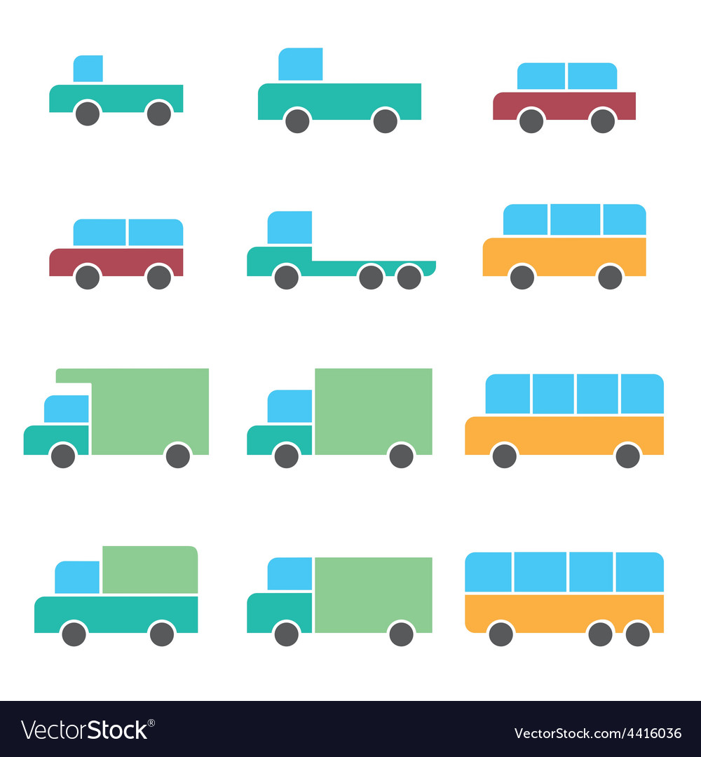 Vehicle car icons