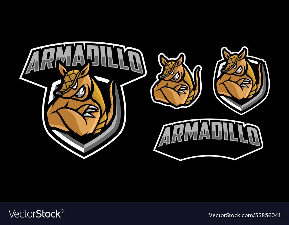 Armadillo mascot logo design