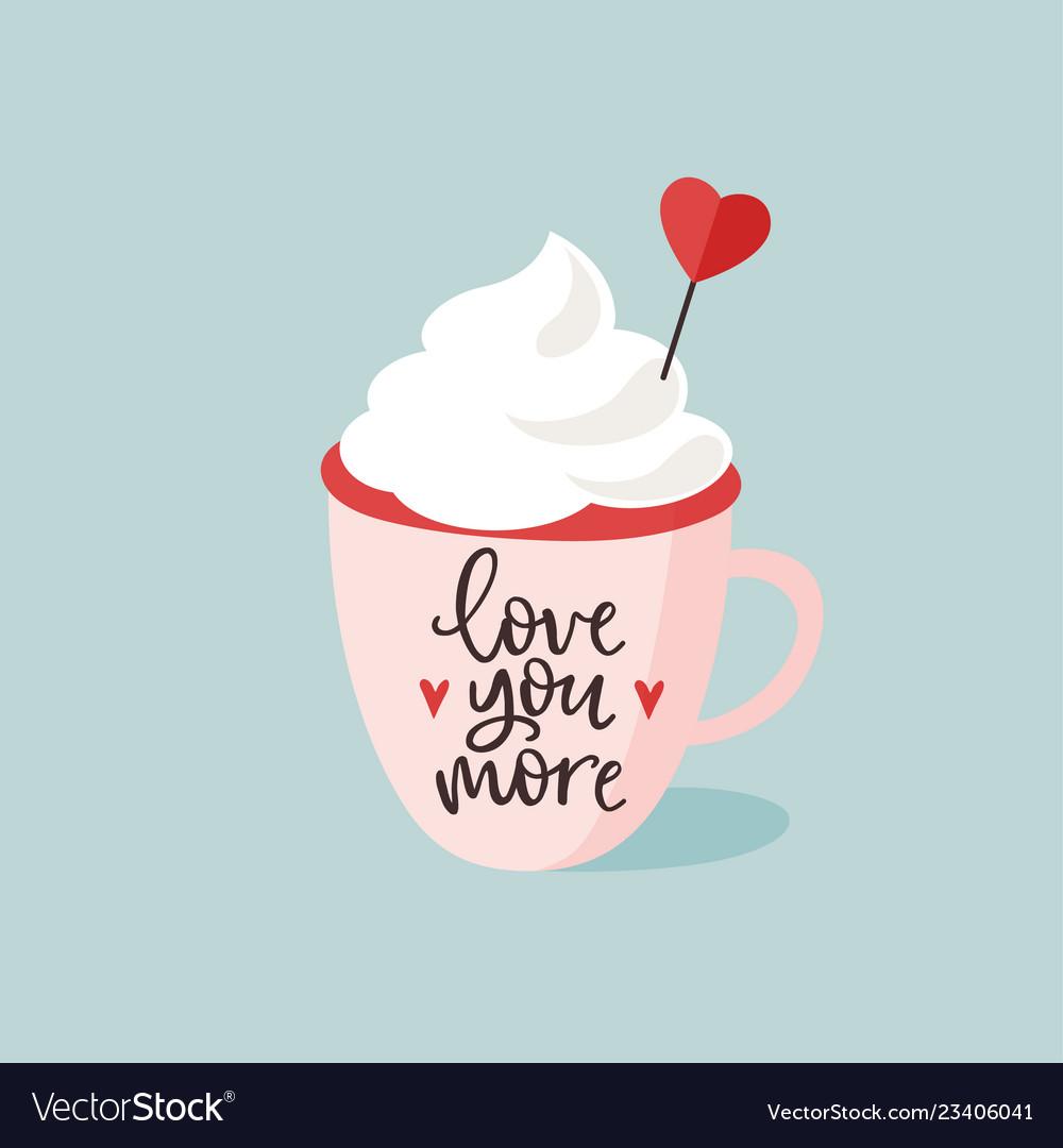 Birthday or valentines day greeting card