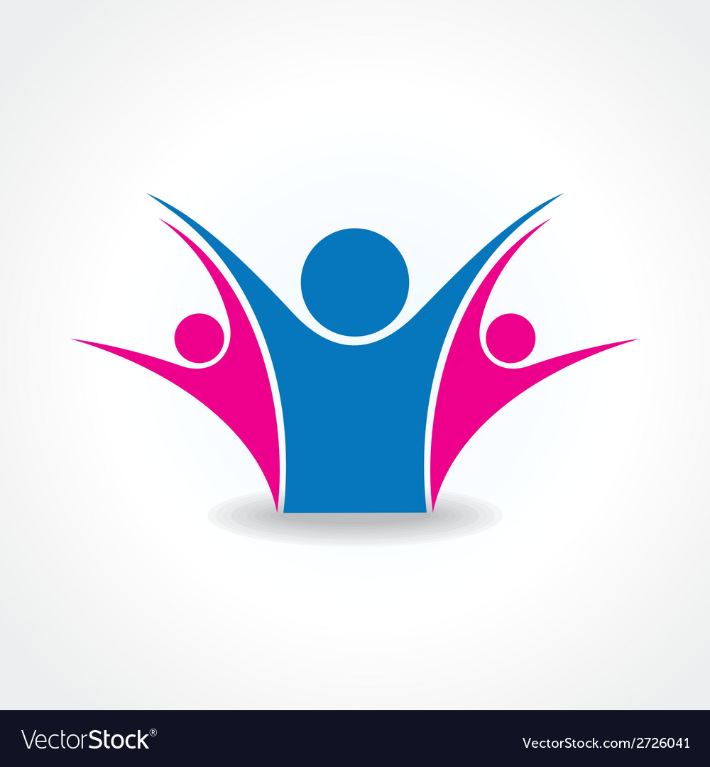 Celebrate or unity icon concept