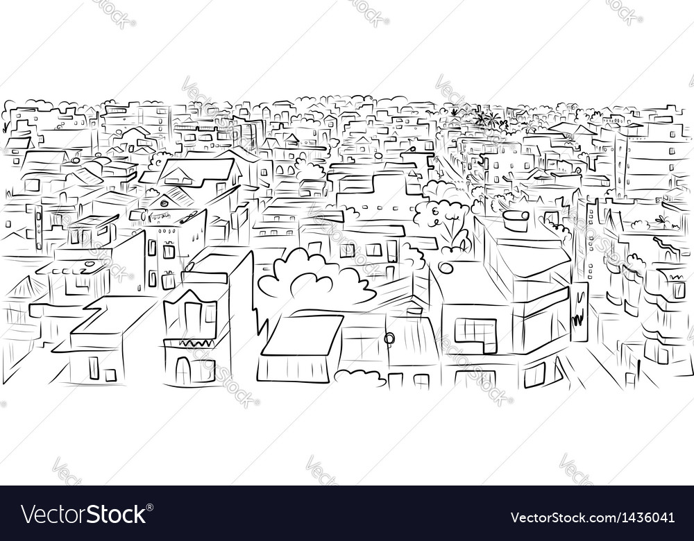 Cityscape sketch for your design vector image