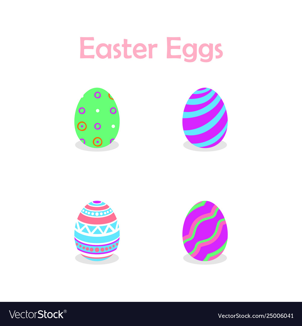 Easter eggs collection for easter day