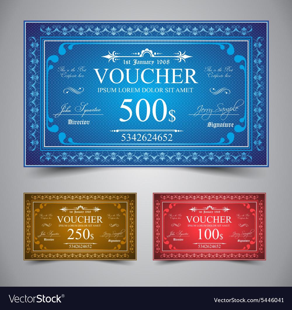 Elegant Voucher Design vector image