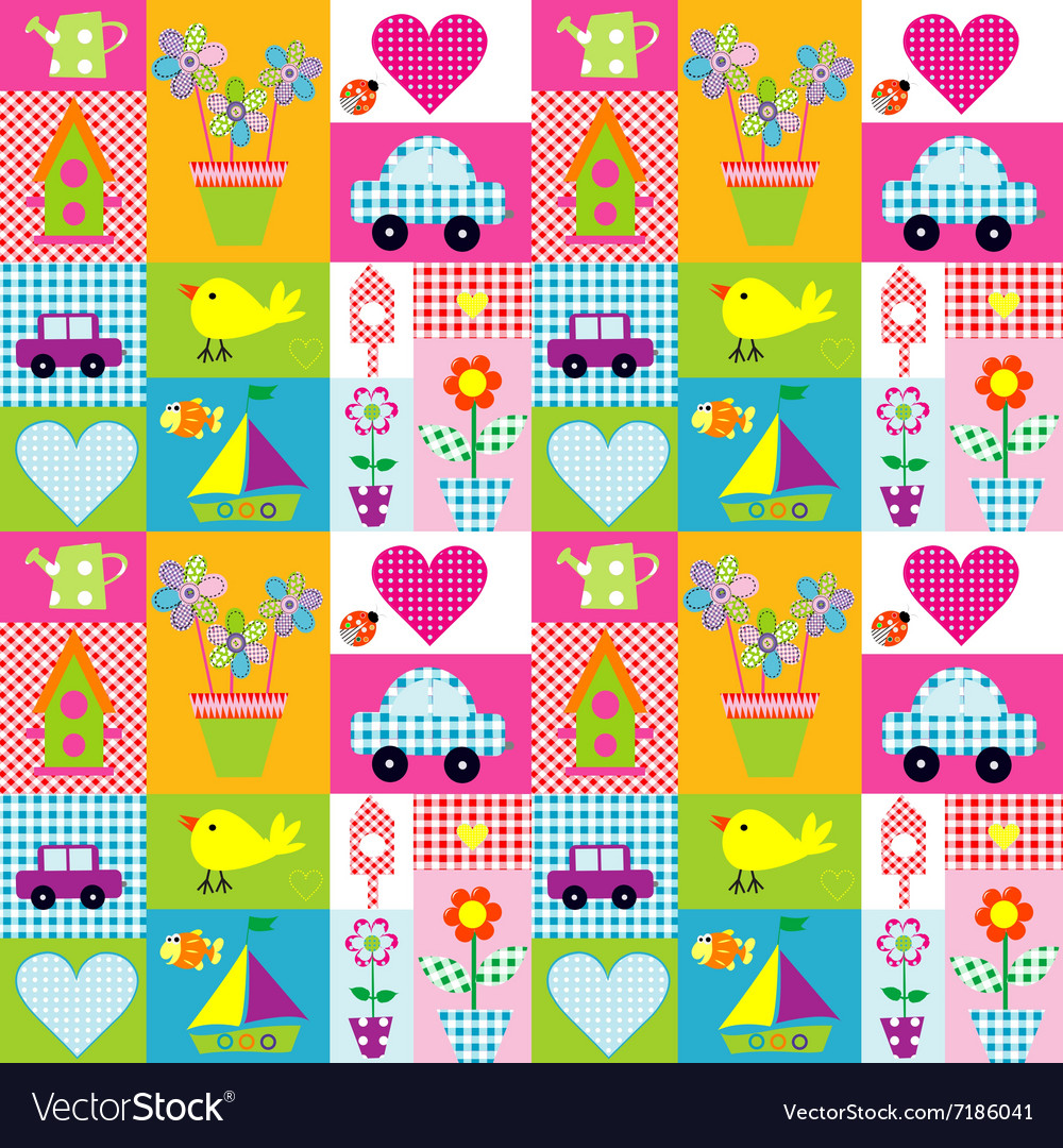 Gift wrapping paper background for kids