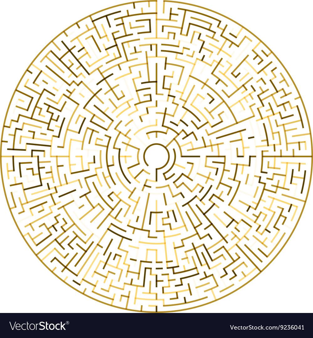 Golden Maze Circle maze vector image