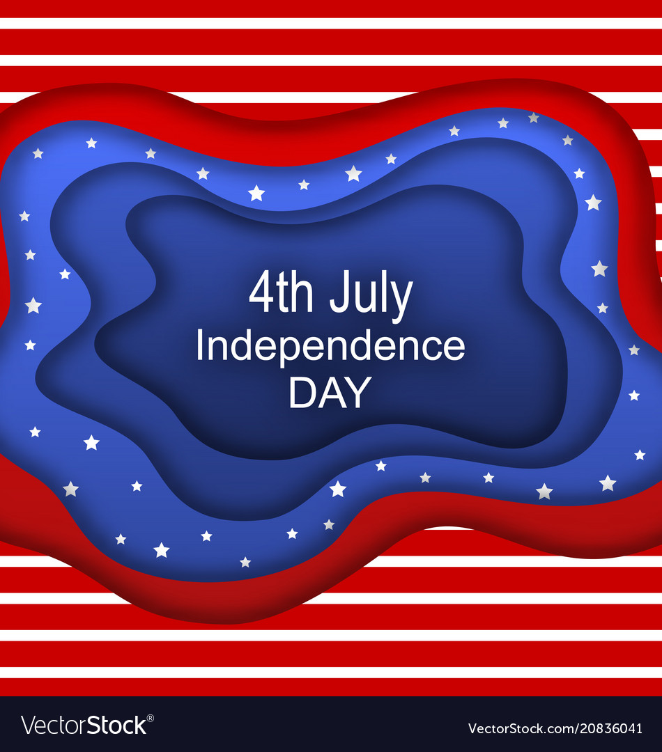 Invitation for fourth of july independence day of