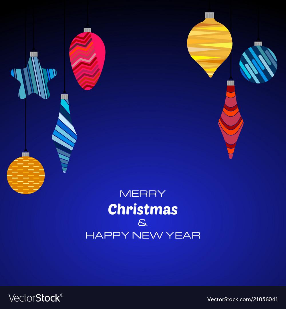 New year dark blue background