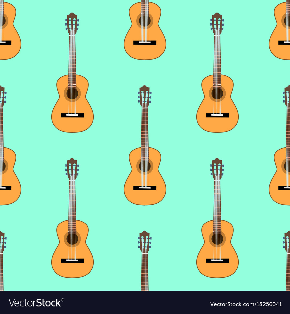 Seamless classical acoustic guitar pattern on