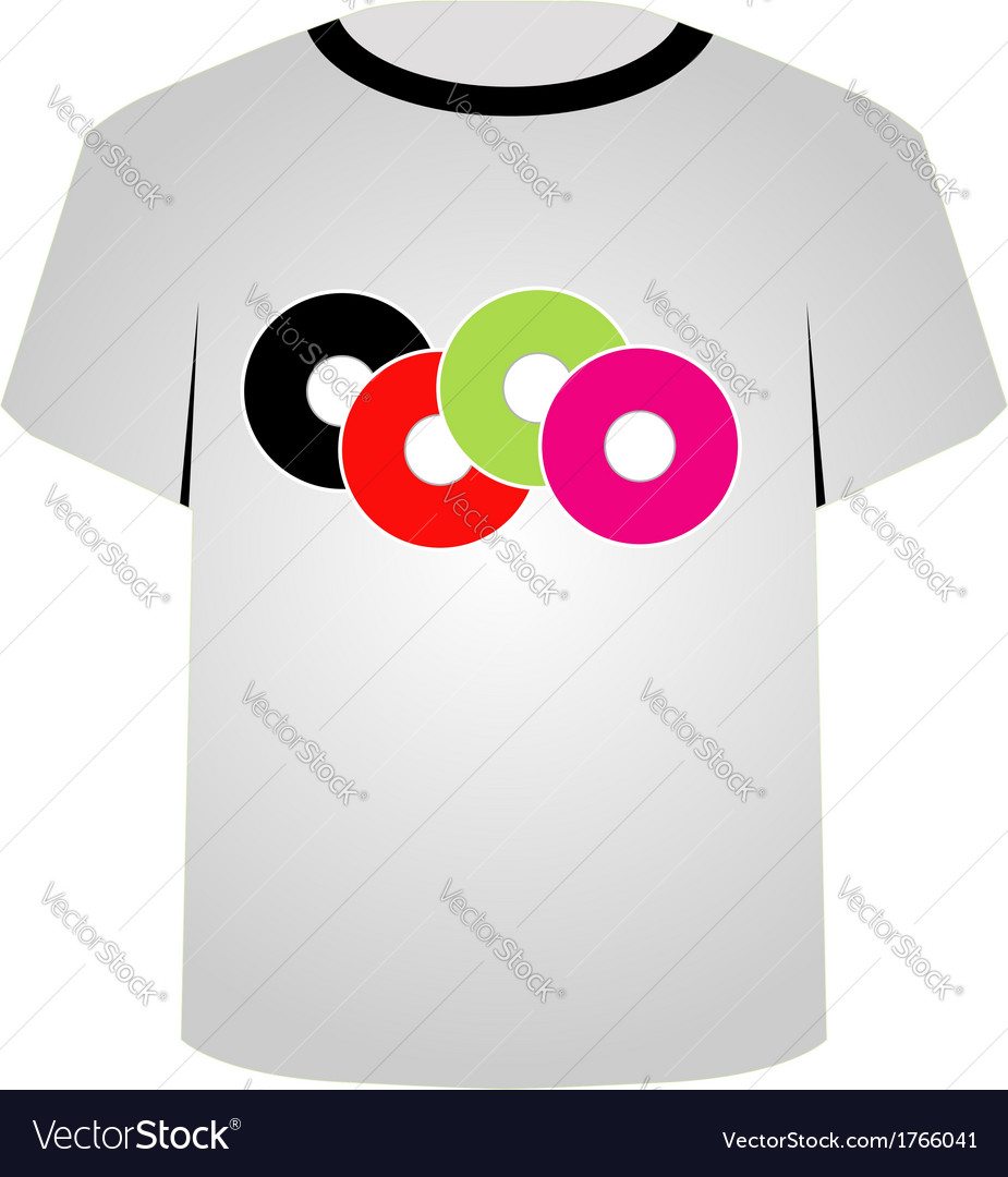 T Shirt Template Music Cds Royalty Free Vector Image