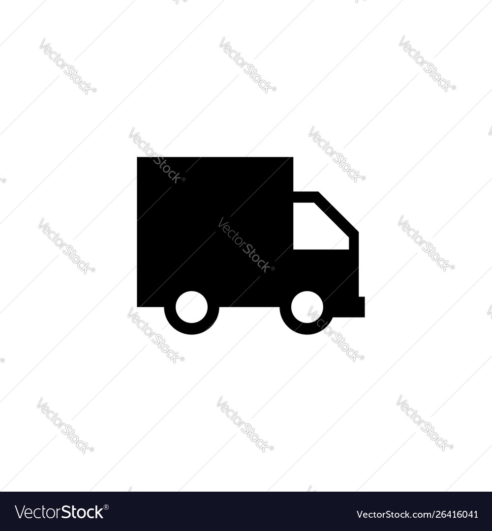 Truck icon delivery van service concept