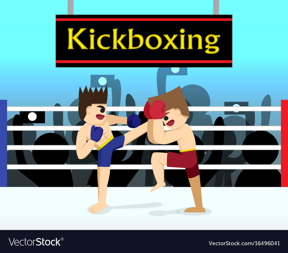 Two boxer are fighting in boxing stadium