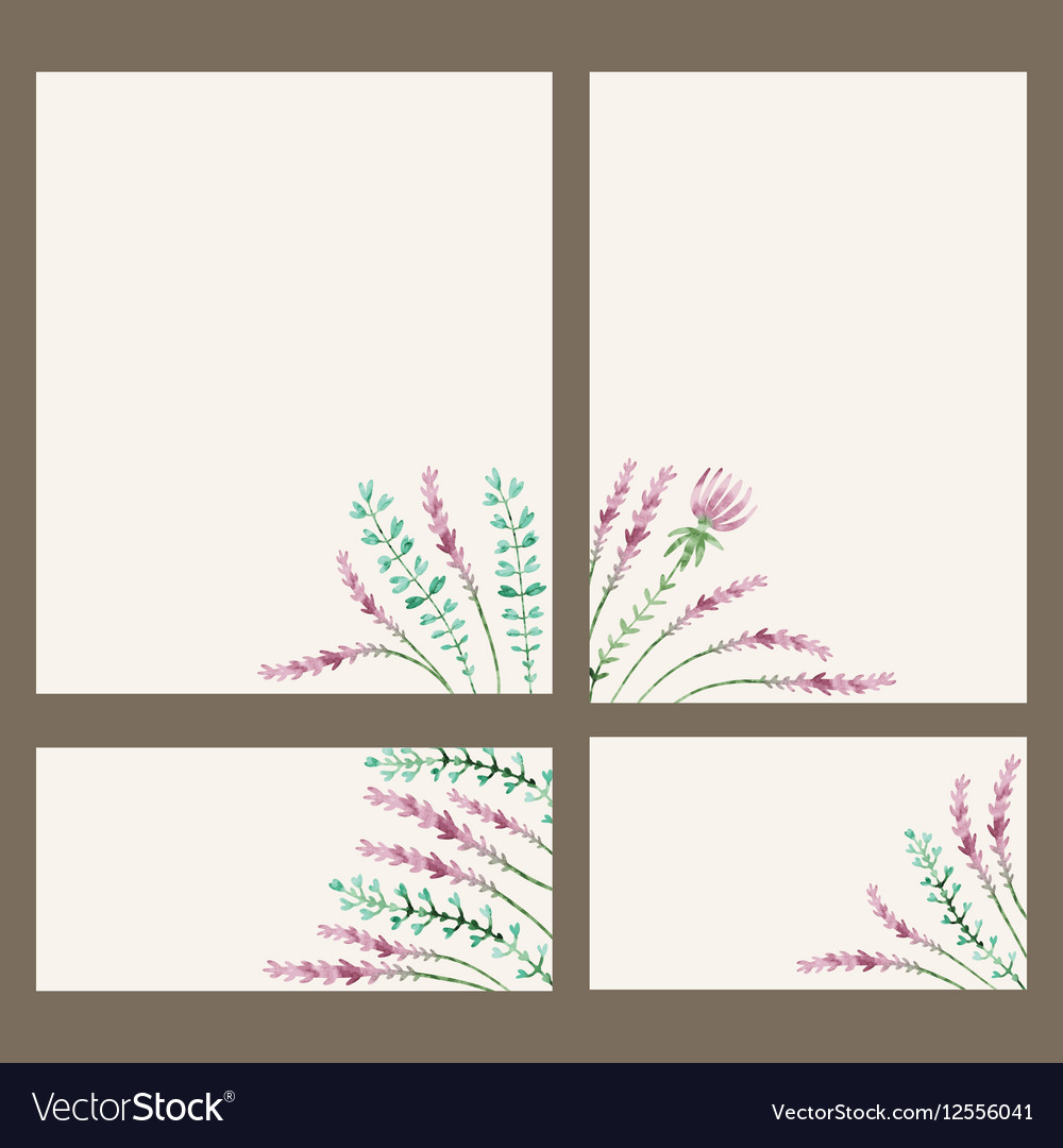 Watercolor floral banner Hand draw herbal border vector image